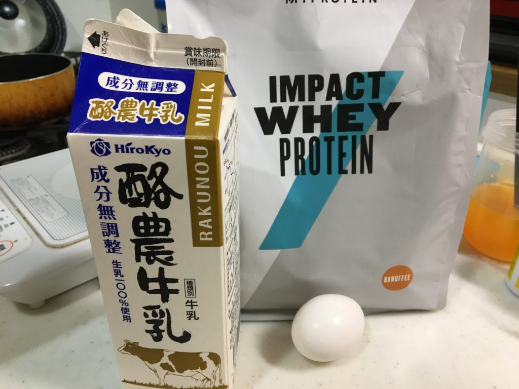 プロテインアイスの材料と栄養素