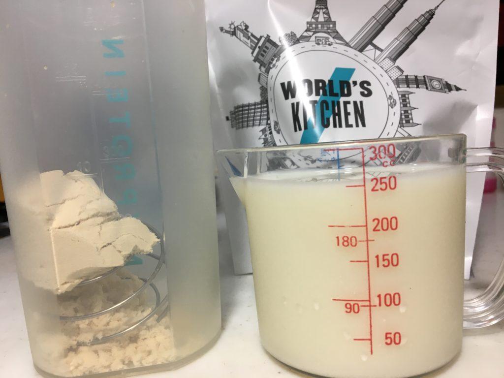 牛乳250mlで溶かすと、甘みが増してエッグタルトの風味