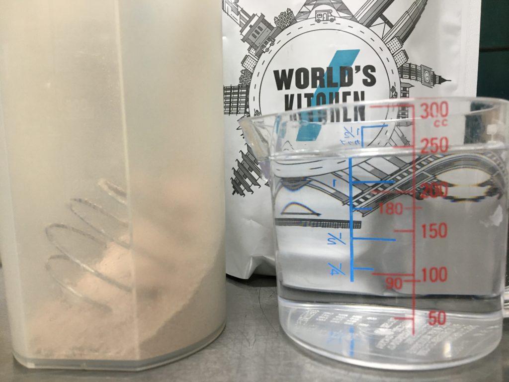 水250mlで溶かすとピーカンナッツの味でした。