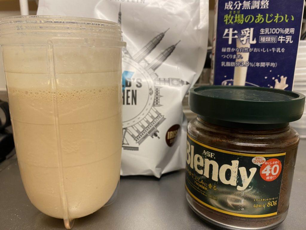 アイリッシュコーヒー味+牛乳+コーヒー