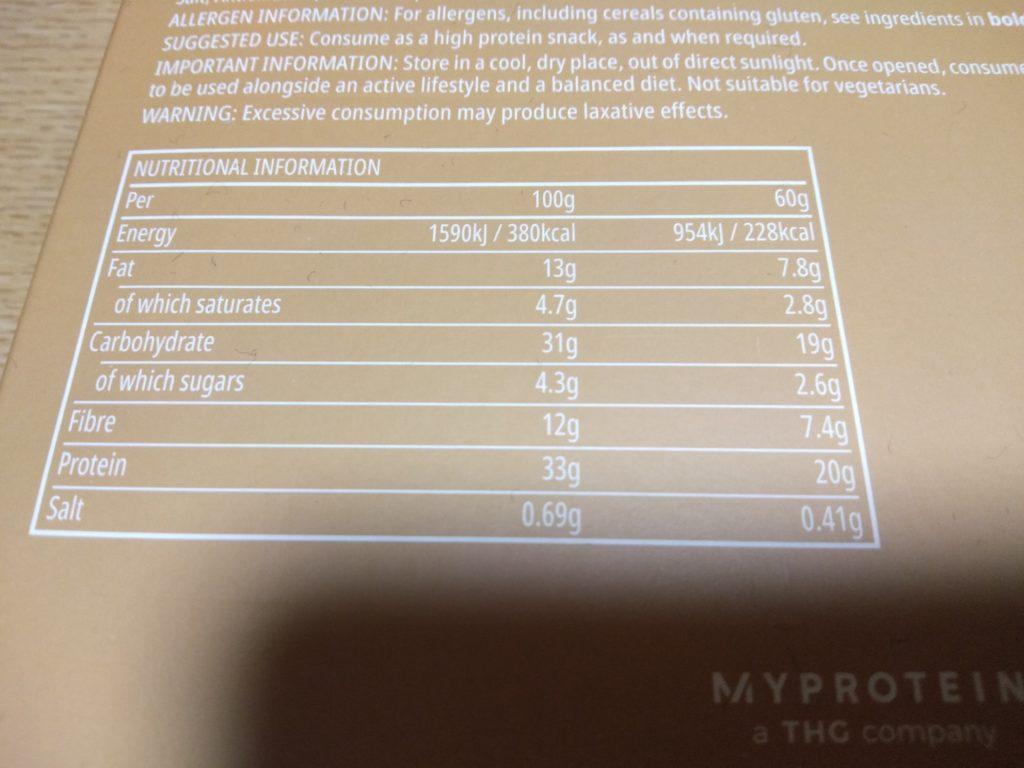 ミルクティー味の成分表