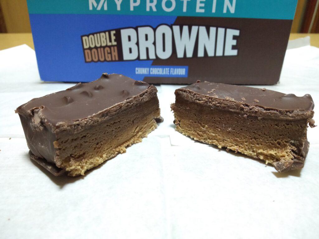 チョコレート&クッキー味の断面の様子