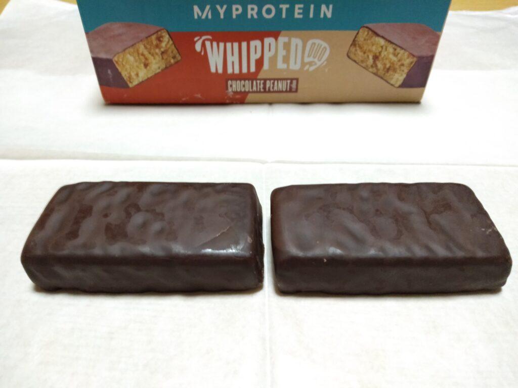 チョコレートピーナッツ味の様子