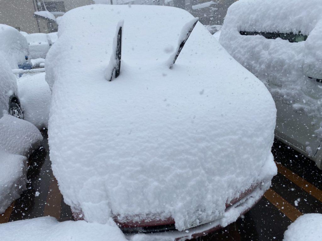新潟県は雪で大変です