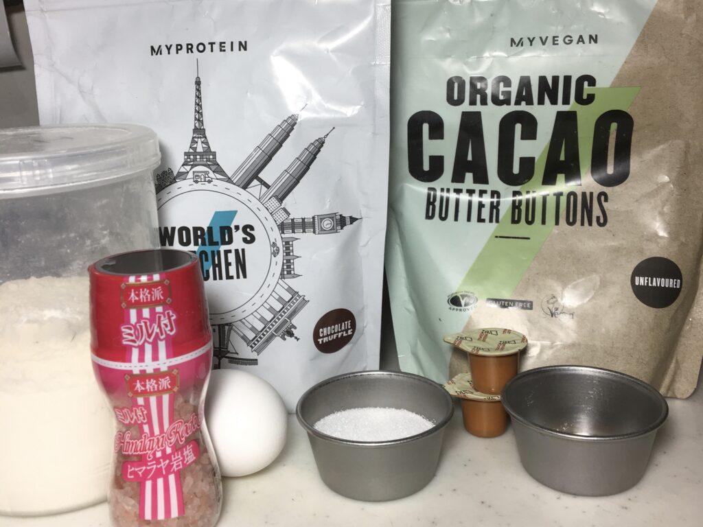 プロテインチョコパンの材料と栄養素