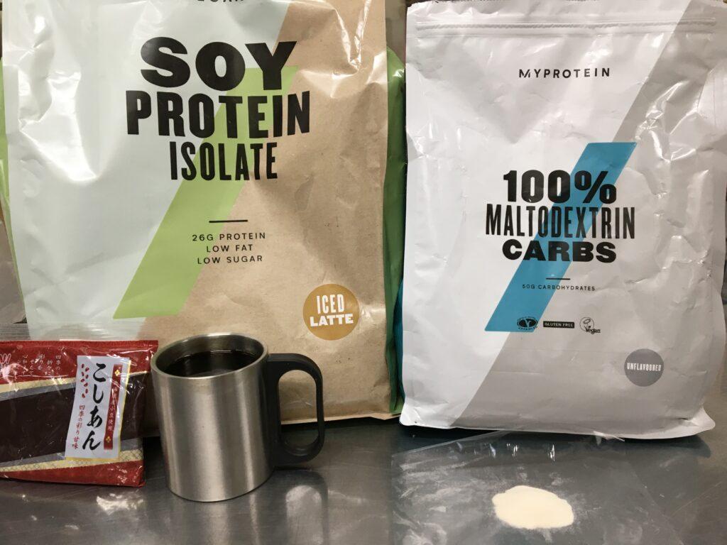 プロテインコーヒー羊羹の材料と栄養素