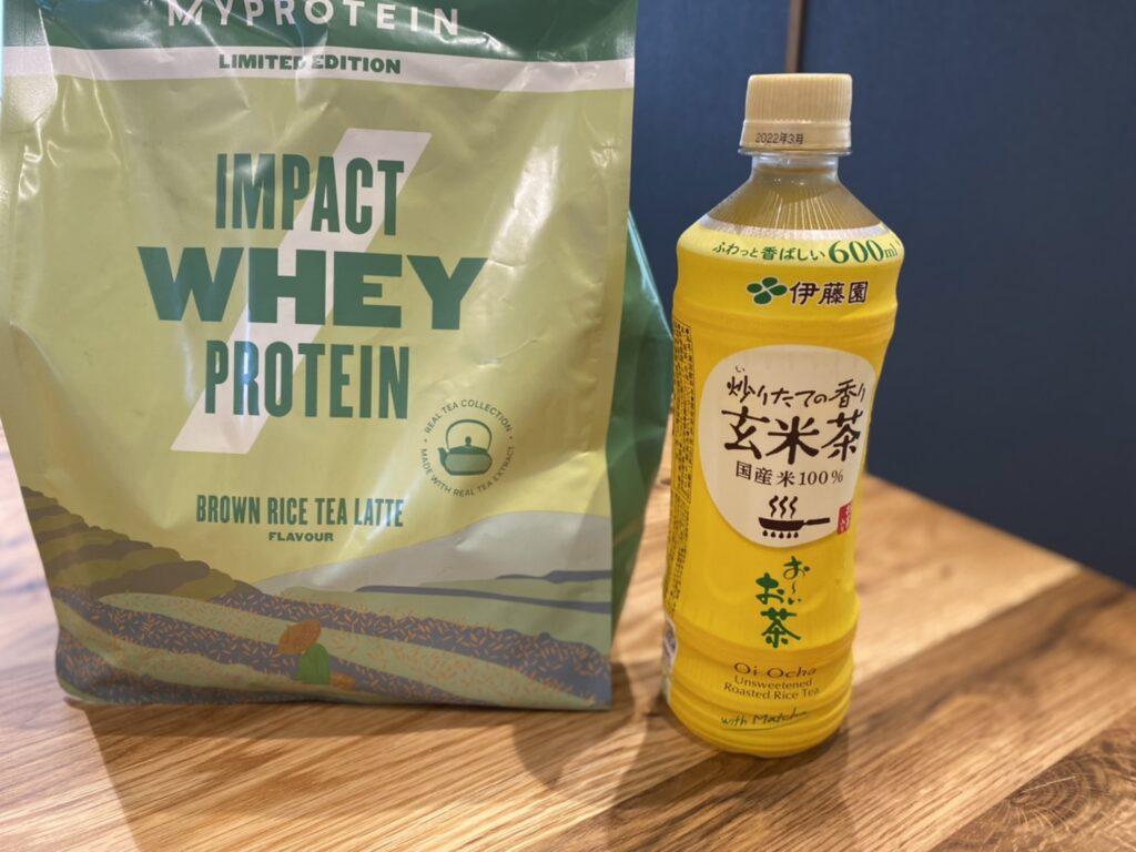 Impactホエイプロテイン:玄米茶ラテ味